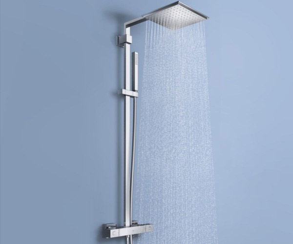 Exposed Shower square