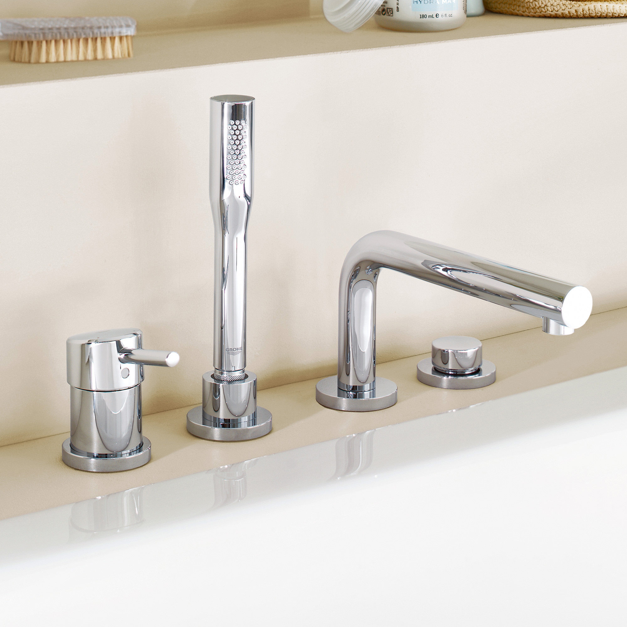 Grohe concetto four hole single lever bath combination