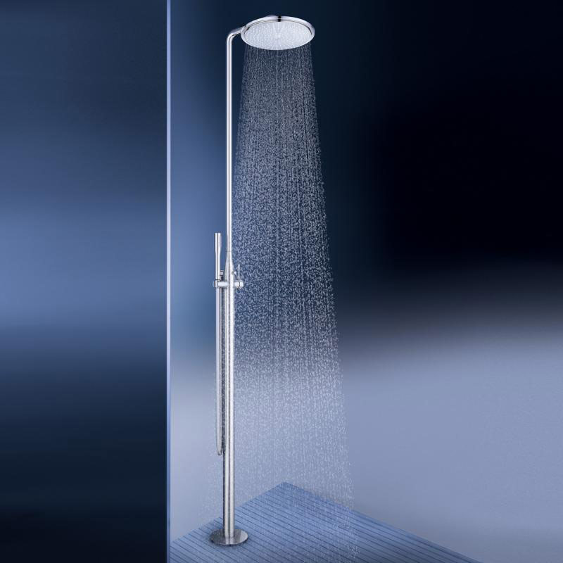 Grohe essence free standing single lever shower system
