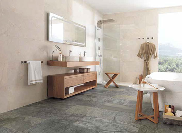 Porcelanosa 64 floor tiles