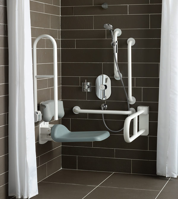 Ideal Standards Mobility impaired bathroom shower