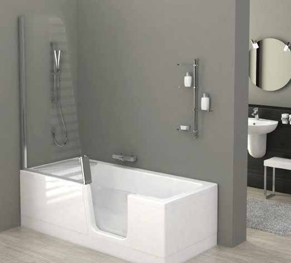 RTL less abled shower bathmobility impaired bathroom