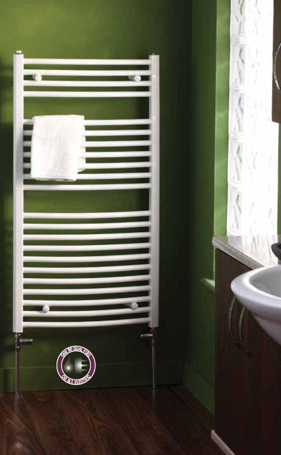 Splash Biavia Curved Bathroom Radiator